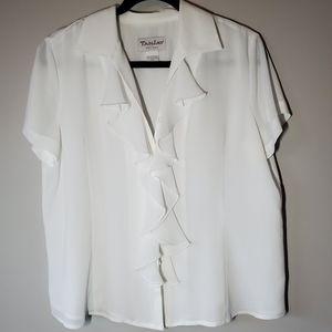 TANJAY White Blouse Sz 12P
